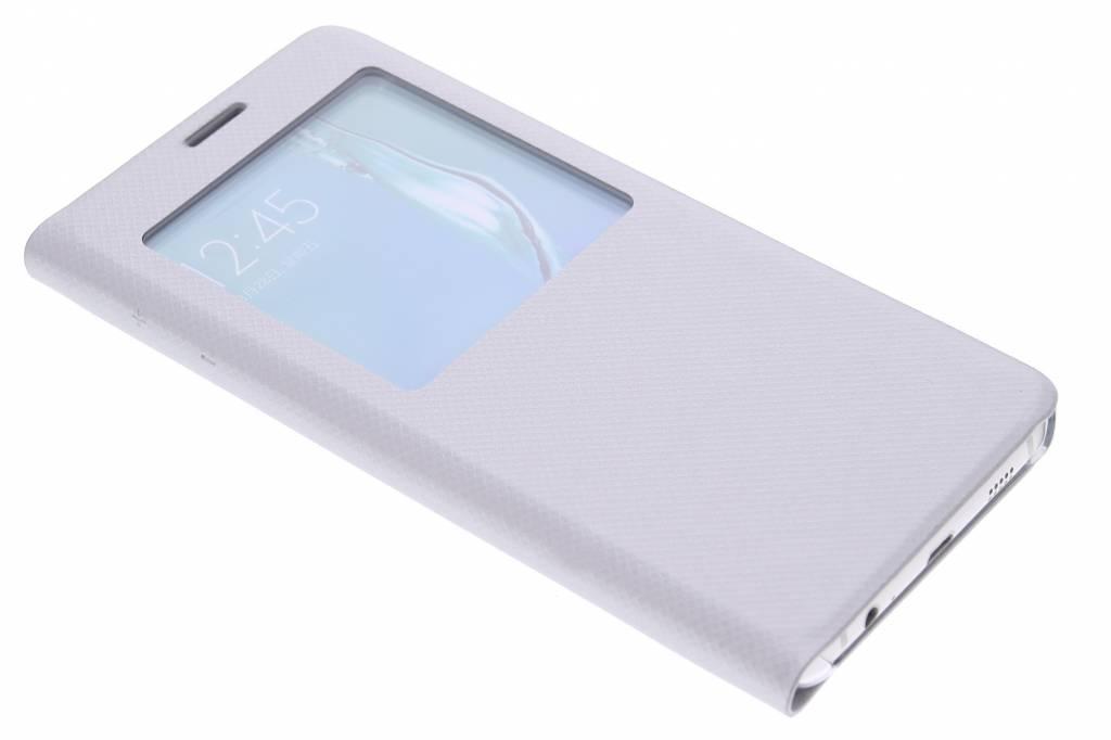 Zilveren moderne slim booktype met venster voor de Samsung Galaxy S6 Edge Plus