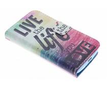 Design TPU booktype hoes LG Leon