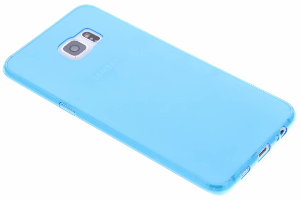 Blauw ultra thin transparant TPU hoesje voor de Samsung Galaxy S6 Edge Plus