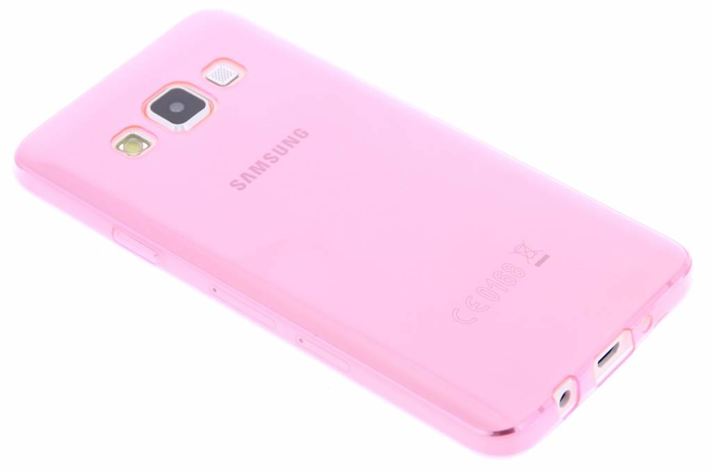 Roze ultra thin transparant TPU hoesje voor de Samsung Galaxy A3