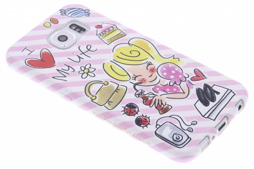 Blond Amsterdam I love my life softcase voor de Samsung Galaxy S6