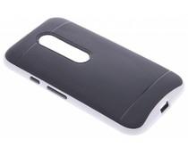 Wit TPU Protect case Motorola Moto G 3rd Gen 2015