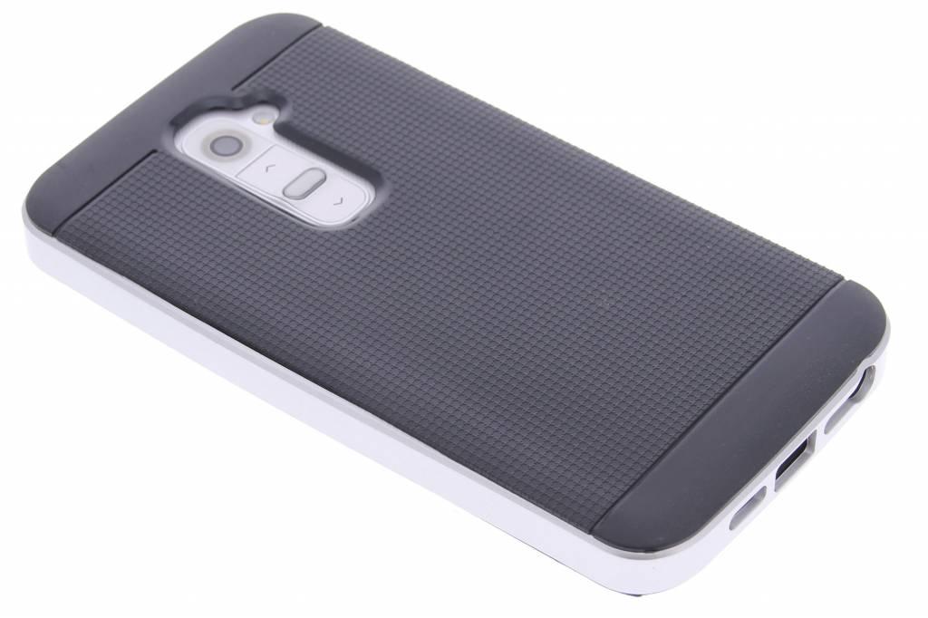 Zilveren TPU Protect case voor de LG G2