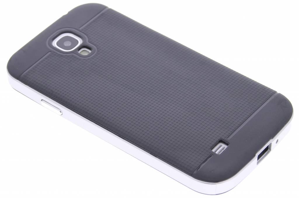 Zilveren TPU Protect case voor de Samsung Galaxy S4