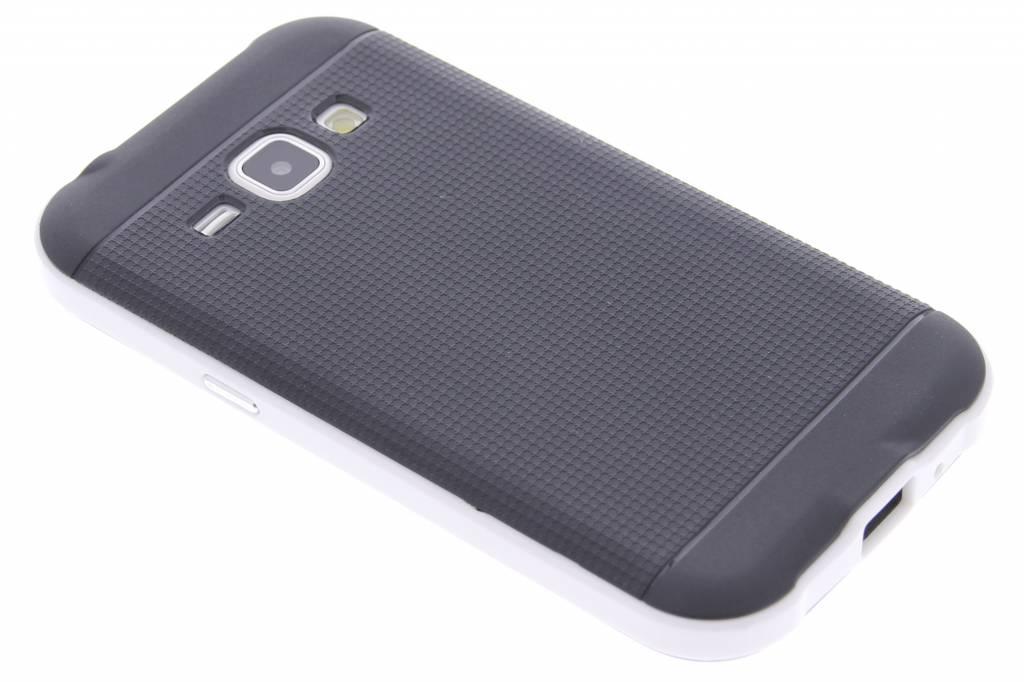 Witte TPU Protect case voor de Samsung Galaxy J1