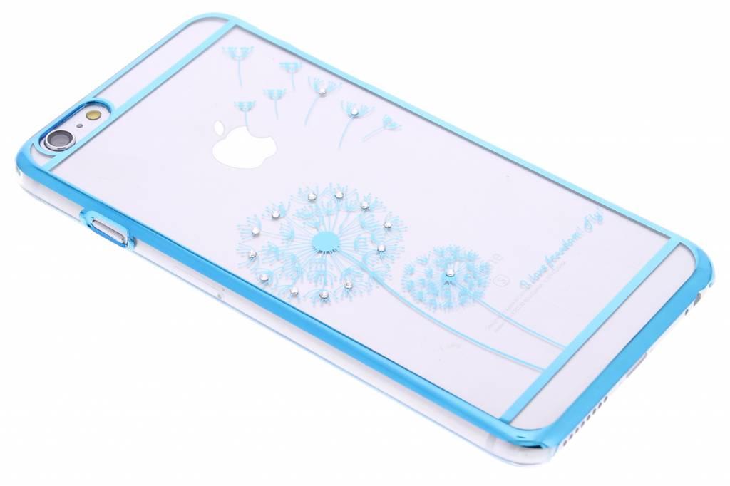 Blauw transparant paardenbloem design hardcase hoesje voor de iPhone 6(s) Plus