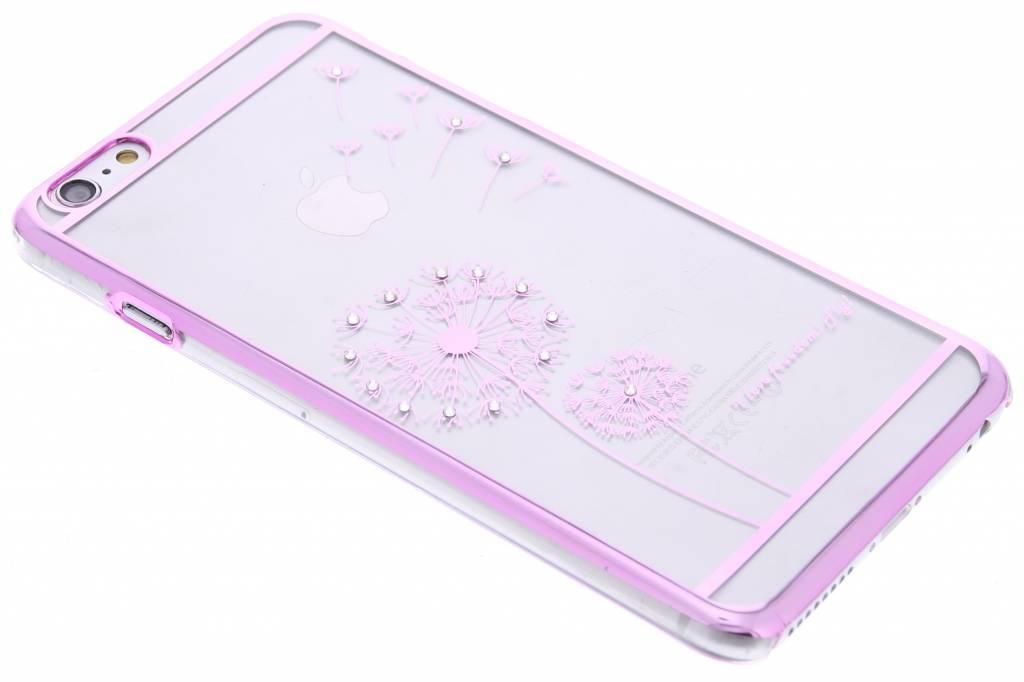 Roze transparant paardenbloem design hardcase hoesje voor de iPhone 6(s) Plus