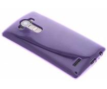 Paars transparant gel case LG G4