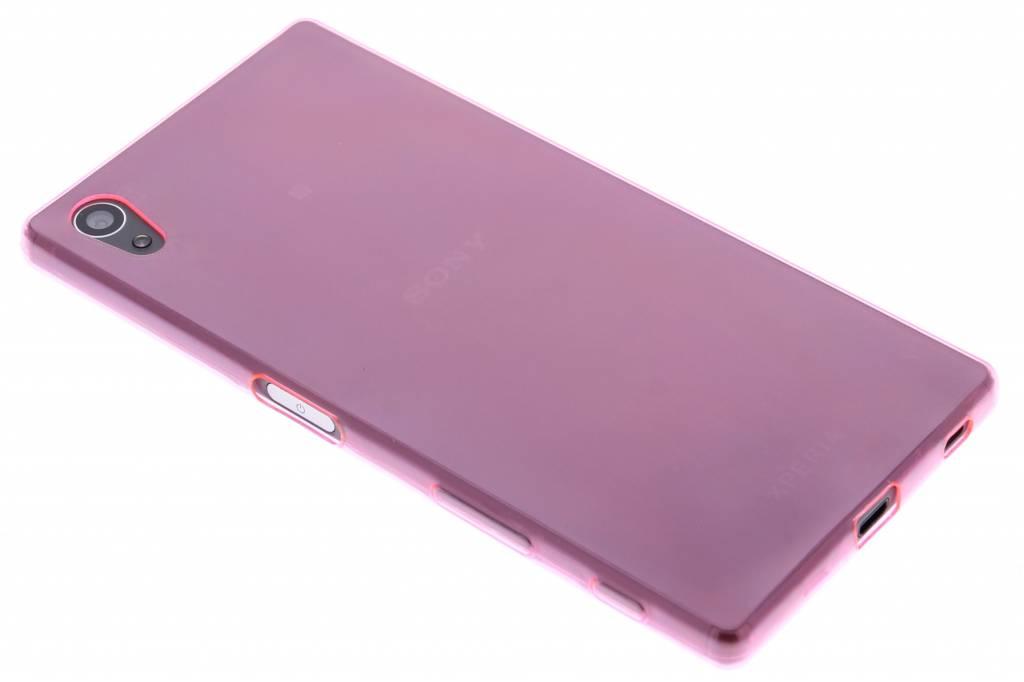 Roze ultra thin transparant TPU hoesje voor de Sony Xperia Z5