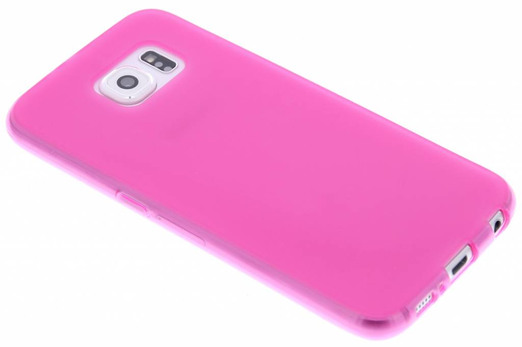Fuchsia hard siliconen hoesje voor de Samsung Galaxy S6