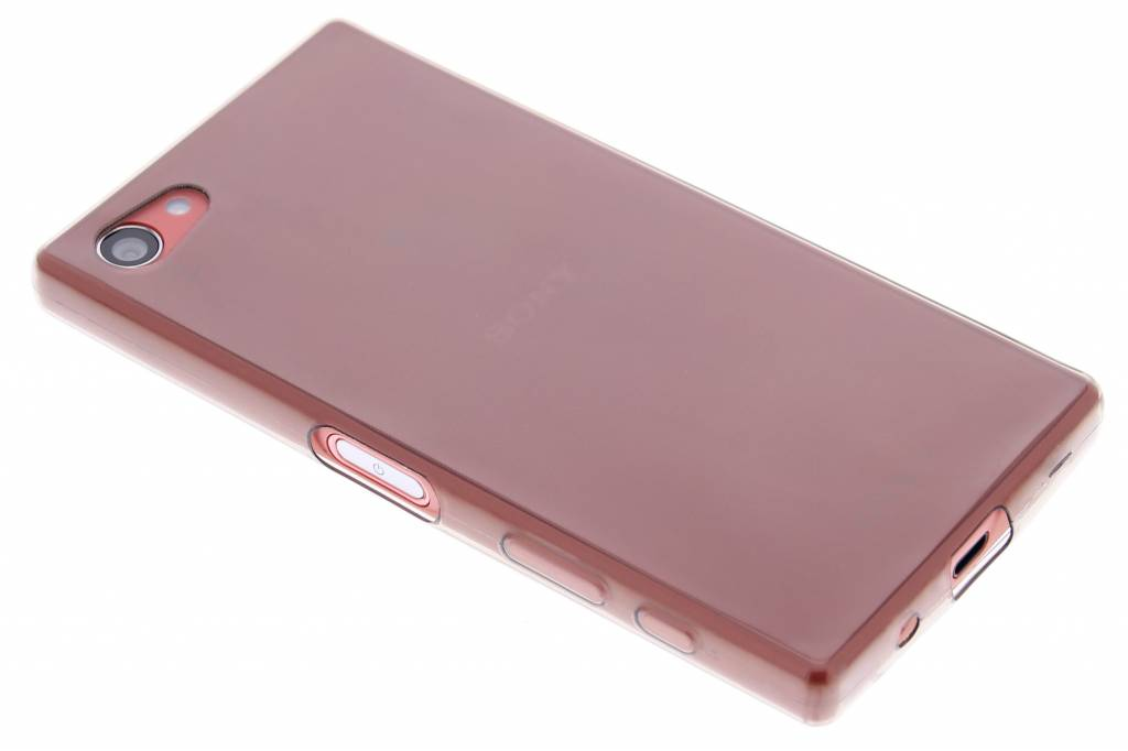 Grijs ultra thin transparant TPU hoesje voor de Sony Xperia Z5 Compact