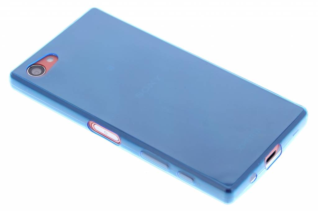 Blauw ultra thin transparant TPU hoesje voor de Sony Xperia Z5 Compact