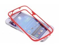 Rood transparante bumper Samsung Galaxy S4 Mini