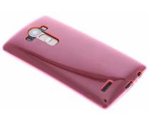 Fuchsia transparant gel case LG G4