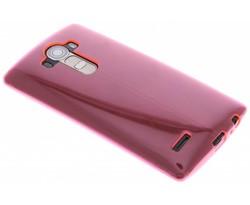 Roze transparant gel case LG G4