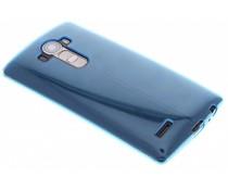 Turquoise transparant gel case LG G4