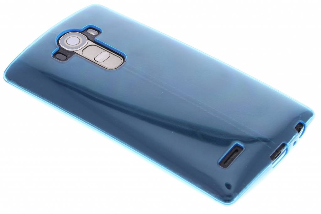 Turquoise transparante gel case voor de LG G4
