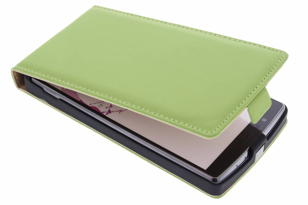 Selencia Luxe Flipcase voor de LG G4 - Groen