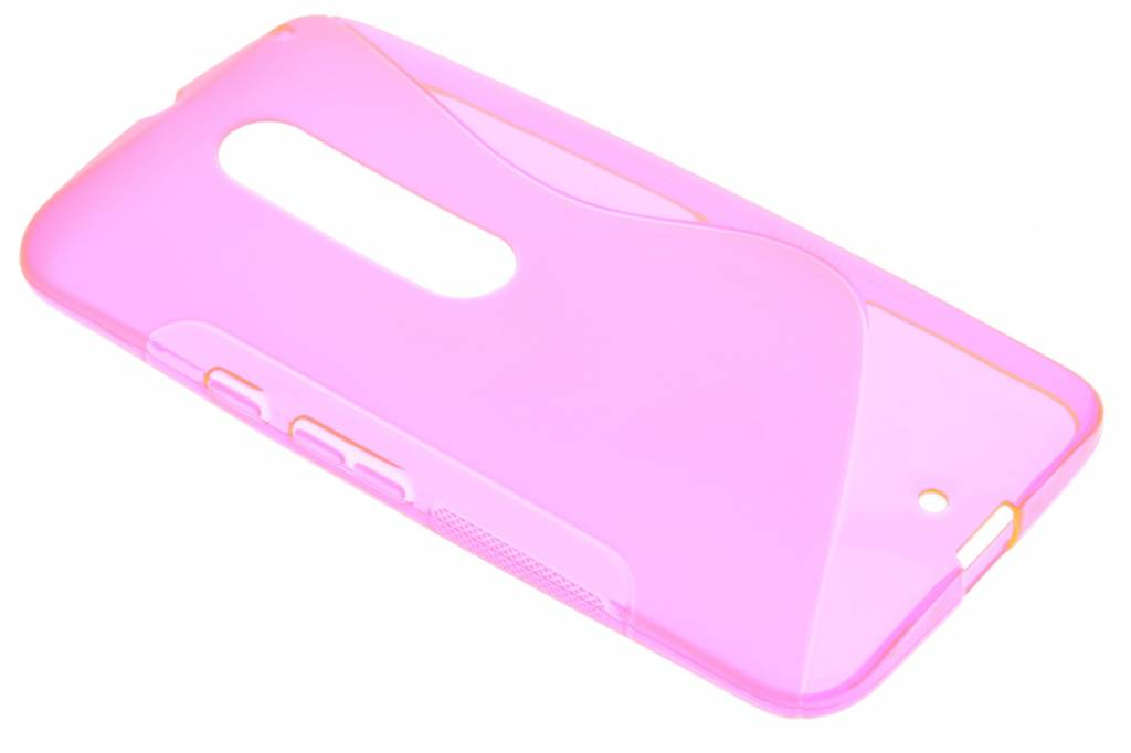 Cas De Gel Transparent Rose Pour Le Style Motorola Moto X iI7jJ