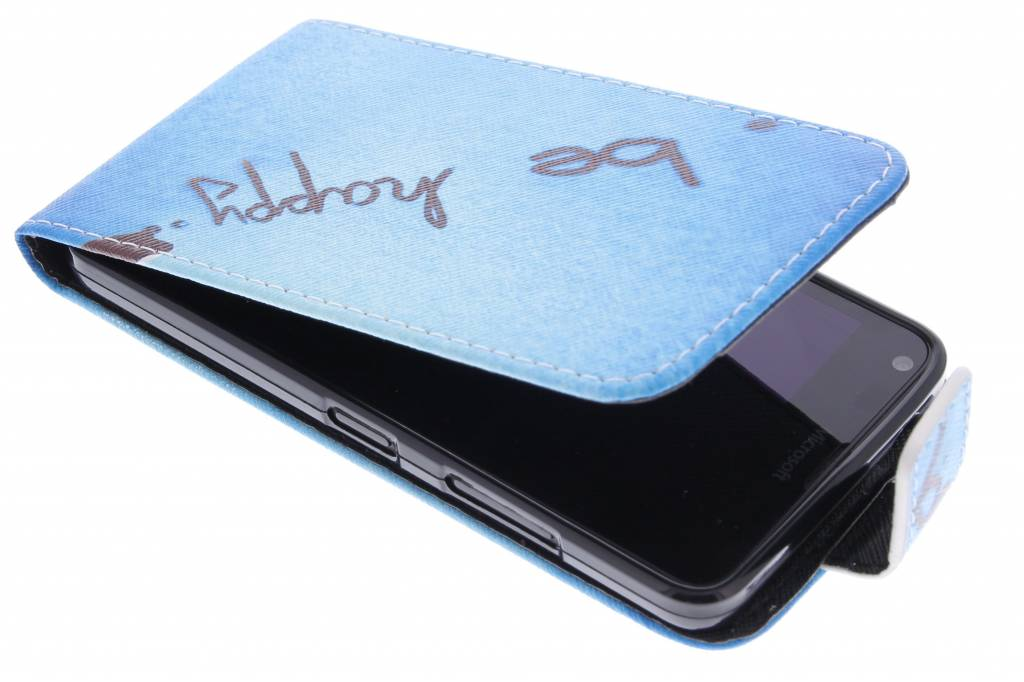 Be happy design TPU flipcase voor de Microsoft Lumia 640