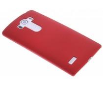 Rood effen hardcase hoesje LG G4 S