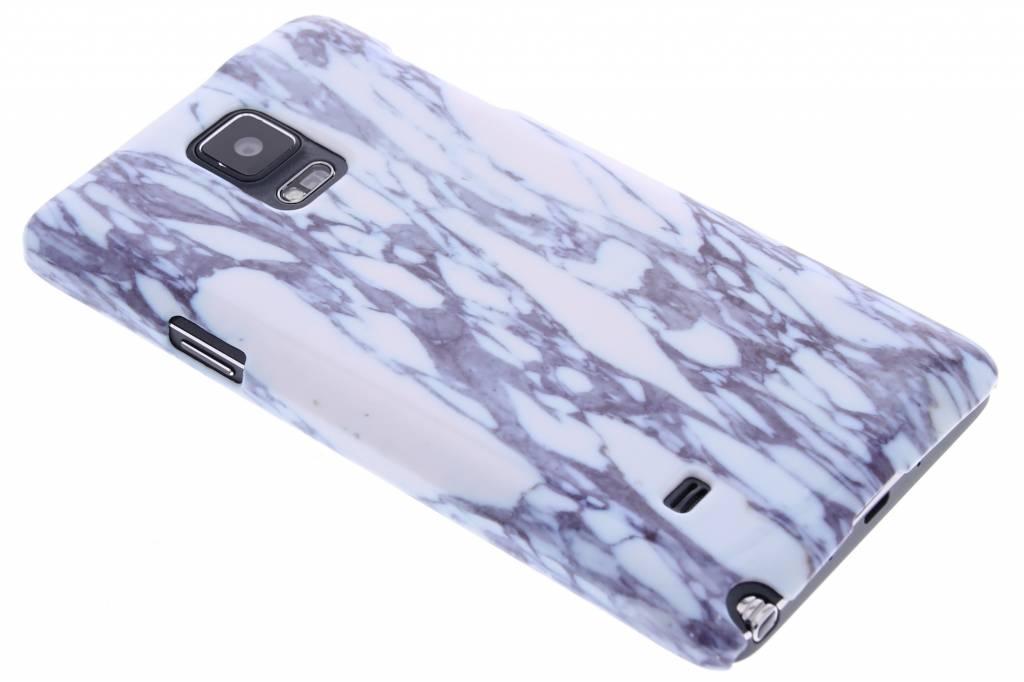 Blauw marmer hardcase hoesje voor de Samsung Galaxy Note 4