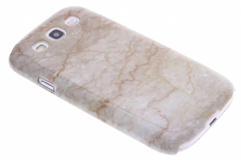 Beige marmer hardcase hoesje voor de Samsung Galaxy S3 / Neo