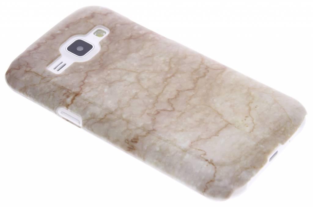 Beige marmer hardcase hoesje voor de Samsung Galaxy J1