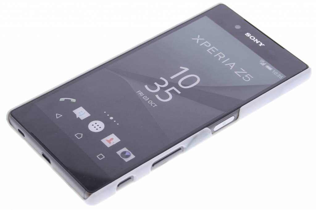 Marbre Blanc Couverture Étui Rigide Pour Sony Xperia Z5 CgtzO