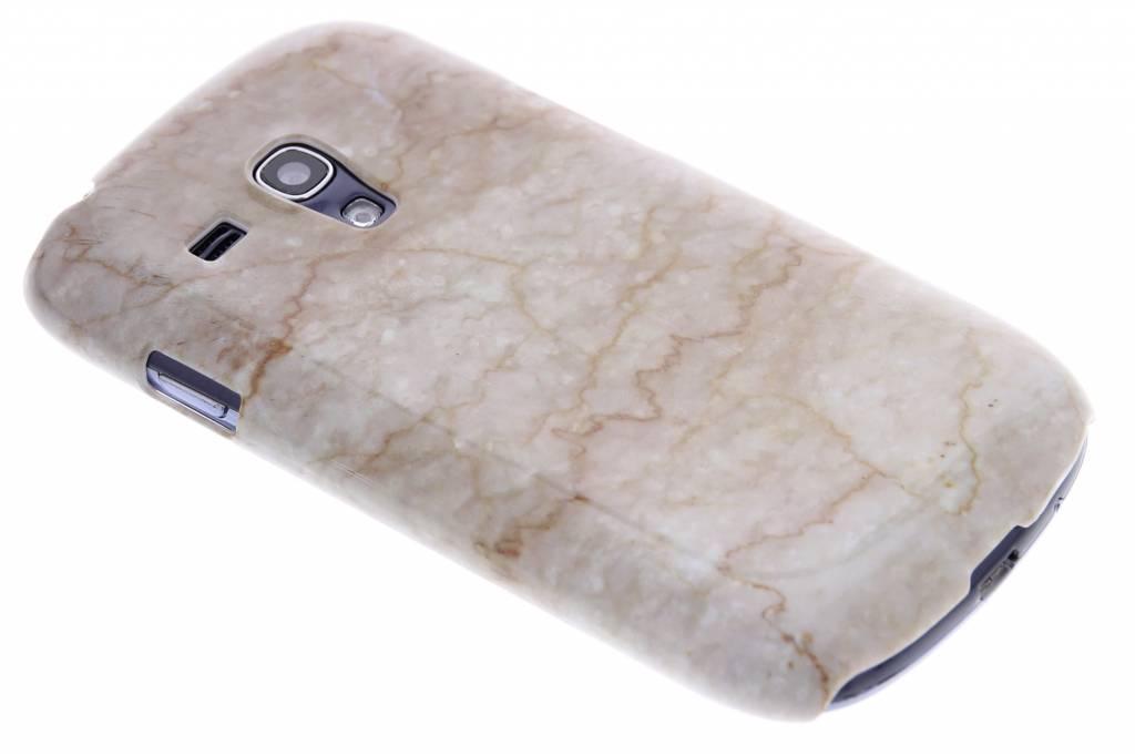 Beige marmer hardcase hoesje voor de Samsung Galaxy S3 Mini