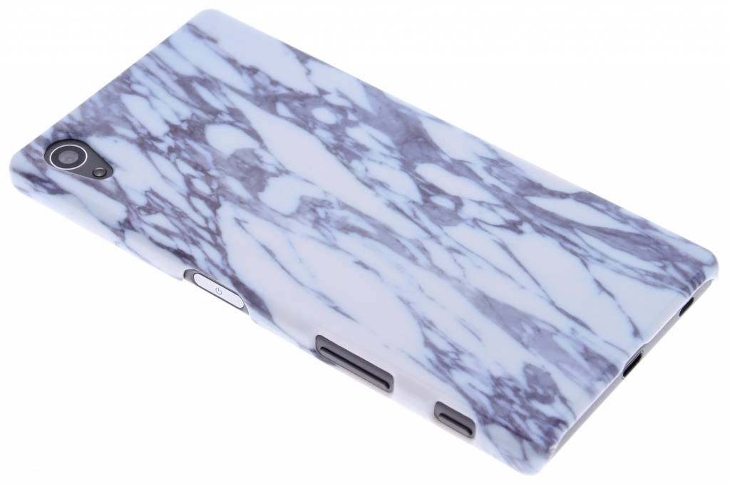 Blauw marmer hardcase hoesje voor de Sony Xperia Z5