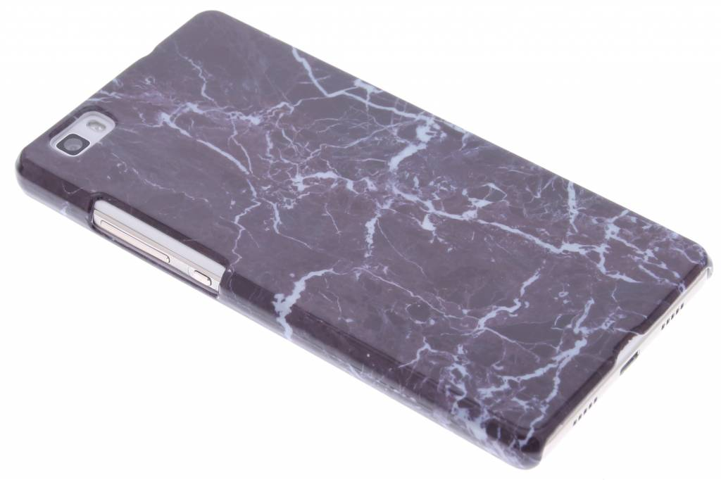 Zwarte luxe leder booktype hoes voor de huawei p8 lite smart cases - Luxe marmer ...