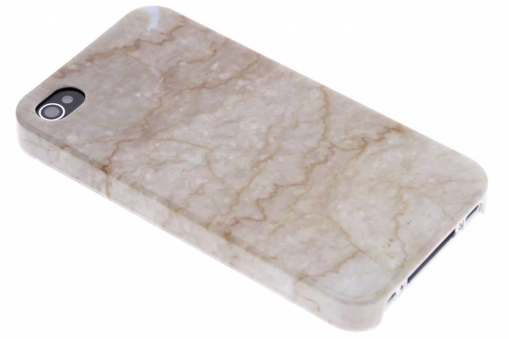 Beige marmer hardcase hoesje voor de iPhone 4 / 4s