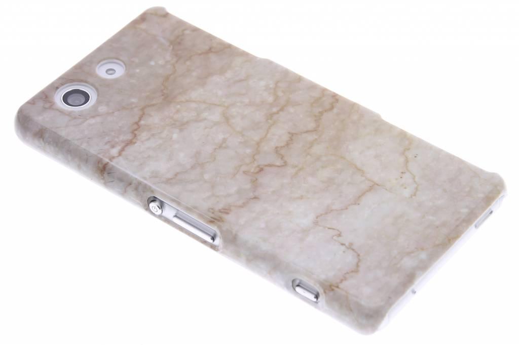Beige marmer hardcase hoesje voor de Sony Xperia Z3 Compact