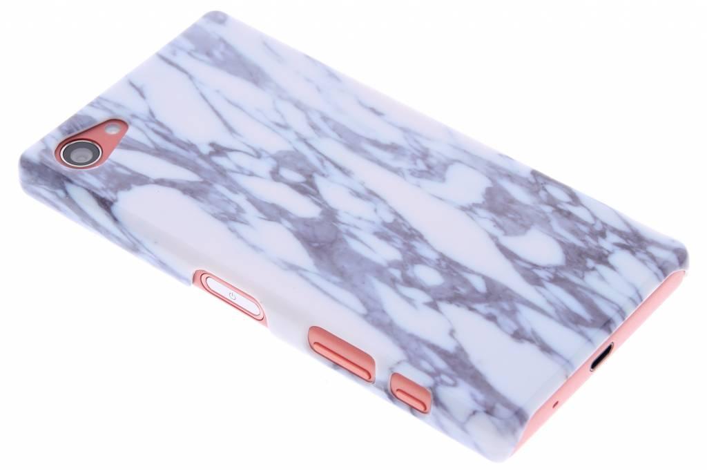 Blauw marmer hardcase hoesje voor de Sony Xperia Z5 Compact