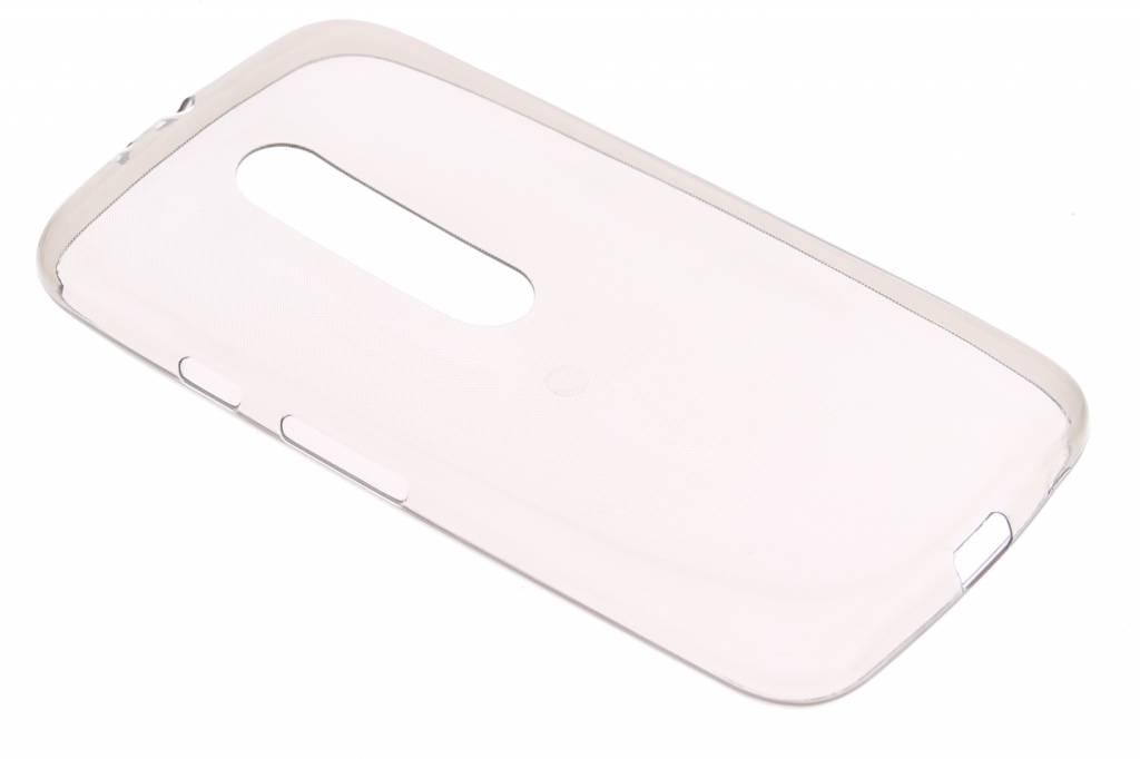 Grijs ultra thin transparant TPU hoesje voor de Motorola Moto G 3rd Gen 2015