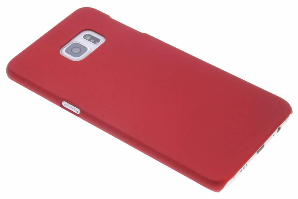 Rood effen hardcase hoesje voor de Samsung Galaxy S6 Edge Plus