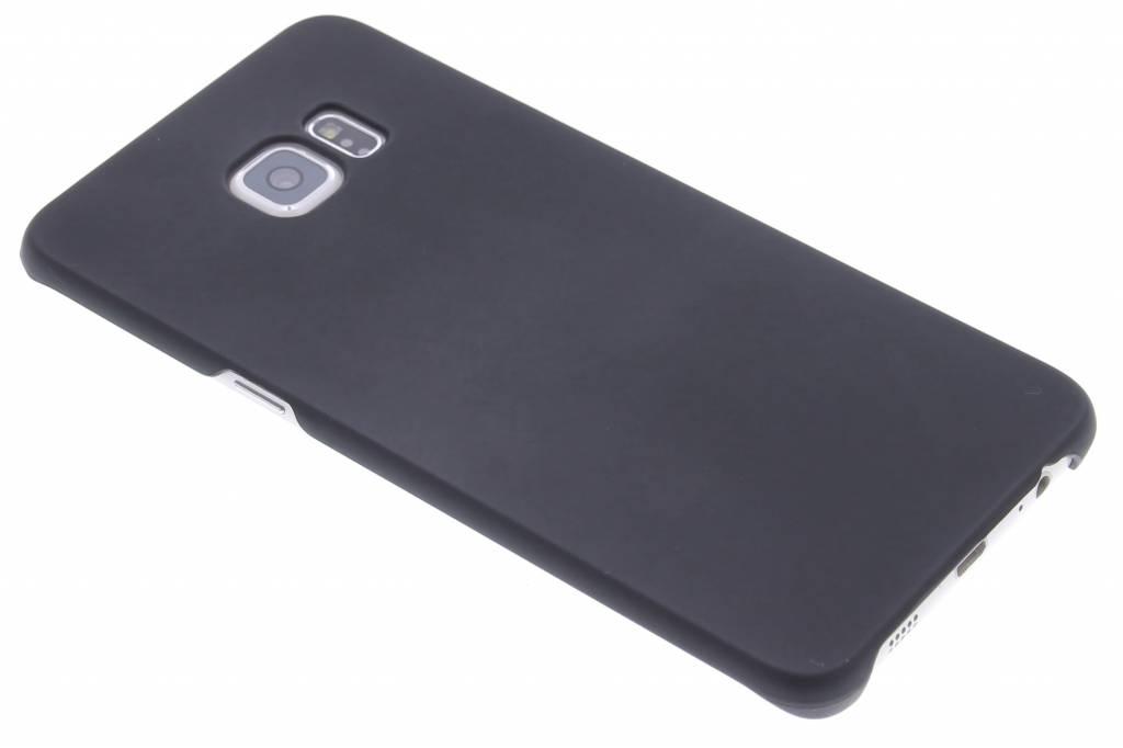 Zwart effen hardcase hoesje voor de Samsung Galaxy S6 Edge Plus