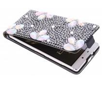 Glazen strass flipcase Huawei P8