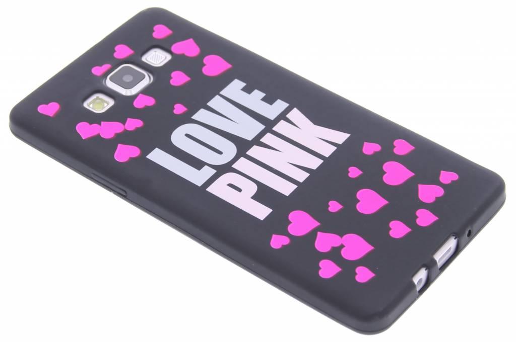 I love pink glow in the dark TPU case voor de Samsung Galaxy A7