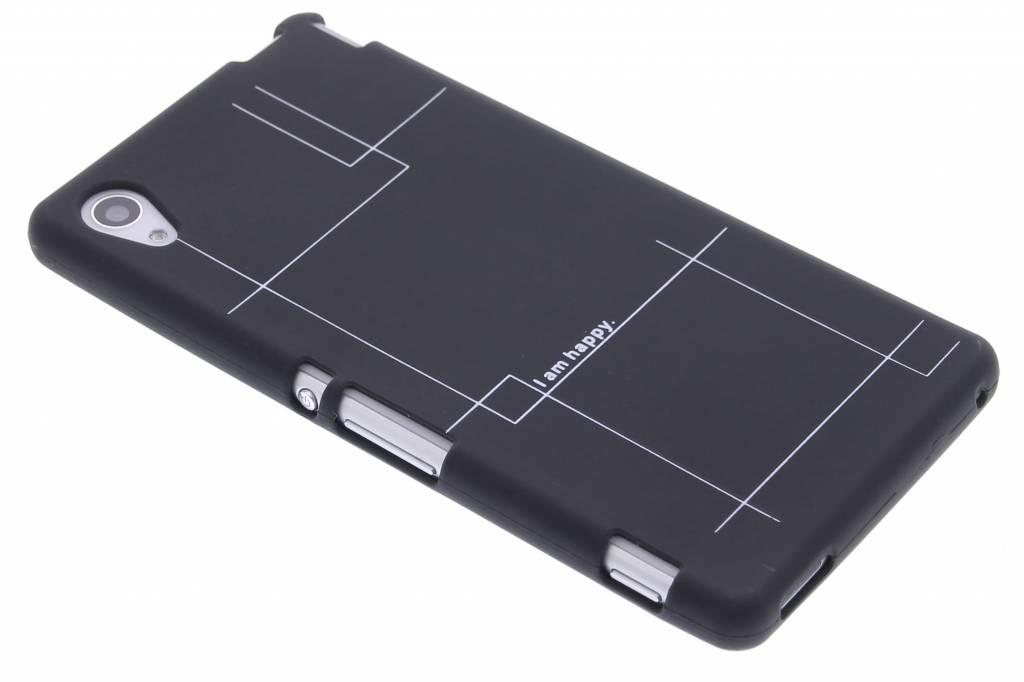 I am happy glow in the dark TPU case voor de Sony Xperia M4 Aqua
