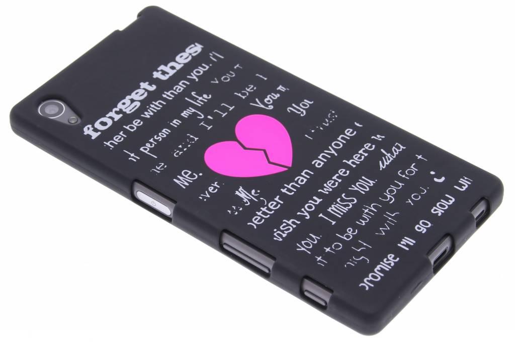 Forget glow in the dark TPU case voor de Sony Xperia Z5