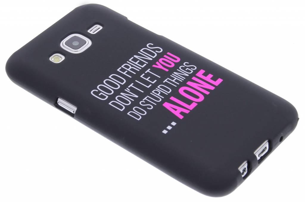 Good friends glow in the dark TPU case voor de Samsung Galaxy J5