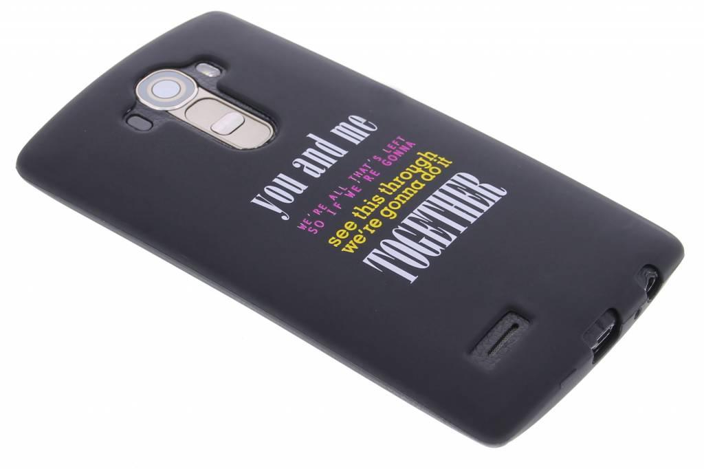 You and me glow in the dark TPU case voor de LG G4
