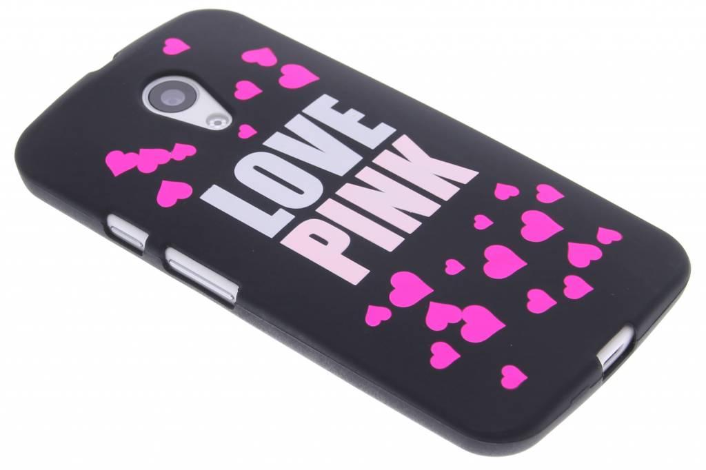 I love pink glow in the dark TPU case voor de Motorola Moto G 2nd Gen 2014