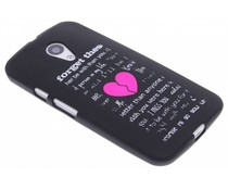 Glow in the dark case Motorola Moto G 2nd Gen 2014