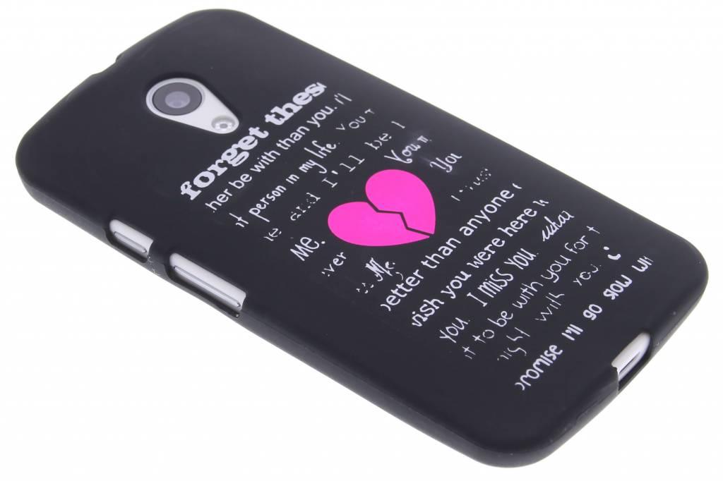Forget glow in the dark TPU case voor de Motorola Moto G 2nd Gen 2014