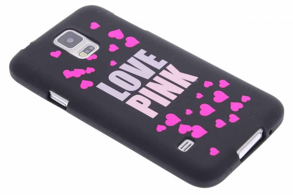 I love pink glow in the dark TPU case voor de Samsung Galaxy S5 (Plus) / Neo