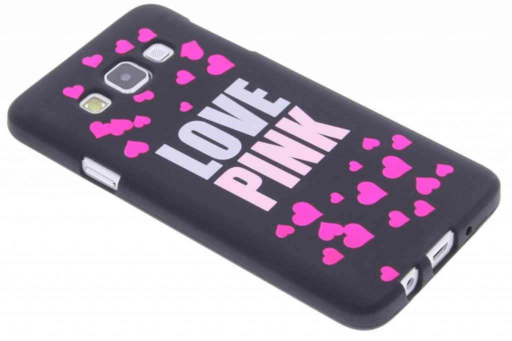 I love pink glow in the dark TPU case voor de Samsung Galaxy A3