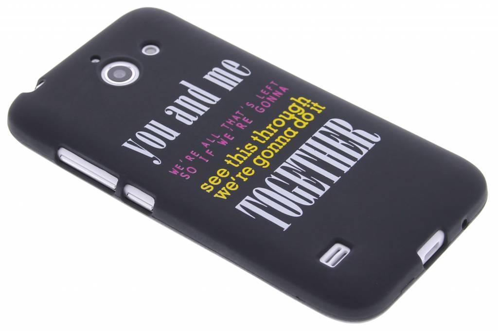 You and me glow in the dark TPU case voor de Huawei Ascend Y550